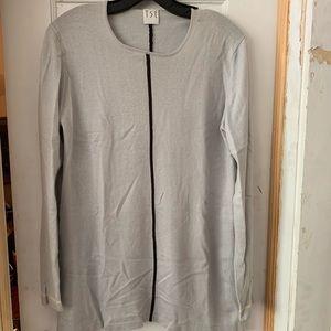 Cashmere Tse sweater pale blue with dark stripe